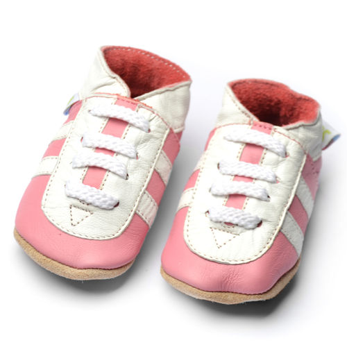 "SOGA ""sporty pink"" Turnschuhe soft sole 17/19-24/25 by amsomo"
